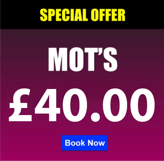 MOT's £30.00 with all Servicing